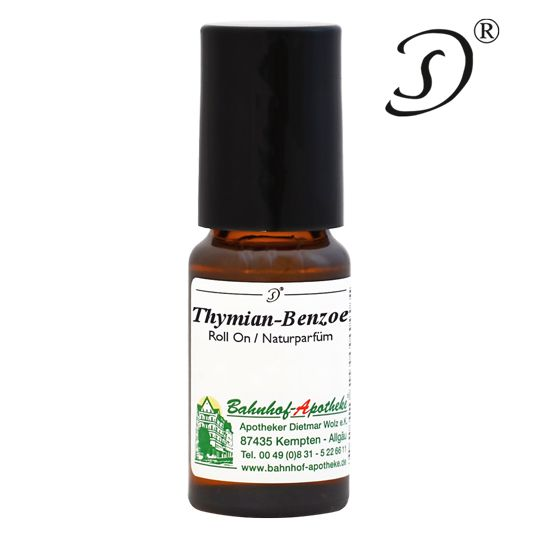 Thymian Benzoe Naturparfüm Roll-on, 10ml