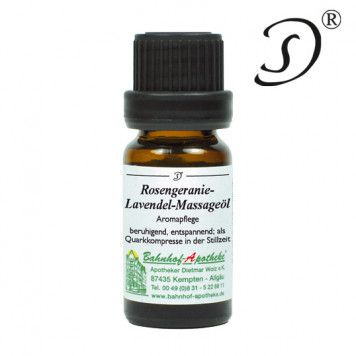 Rosengeranie Lavendel Massageöl, 10ml